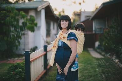 draagdoek tijdens zwangerschap