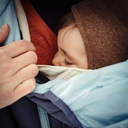 Babydragen in de koude